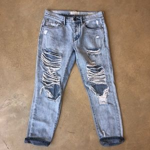 Pacsun Denim Boyfriend Fit Extreme Destruct